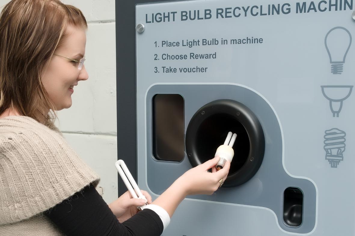recycle machine location
