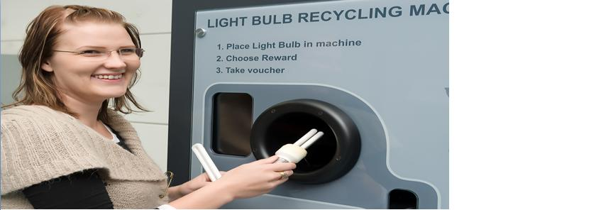 Light Bulb Recycling Reverse Vending Machine
